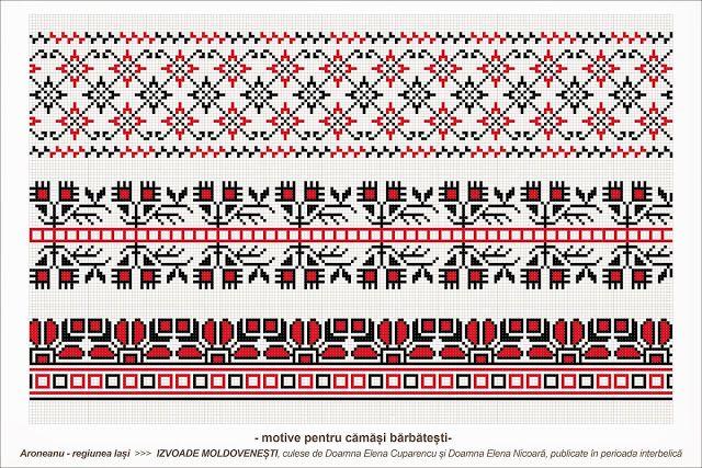 Semne Cusute: Romanian traditional motifs - MOLDOVA - Iasi, Aron...