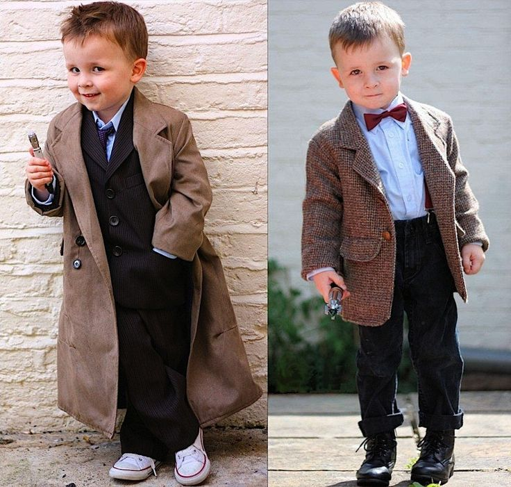 making mini tenth and eleventh doctor costumes oh my god my children will be wearing these too adorable - Kids Doctor Halloween Costume
