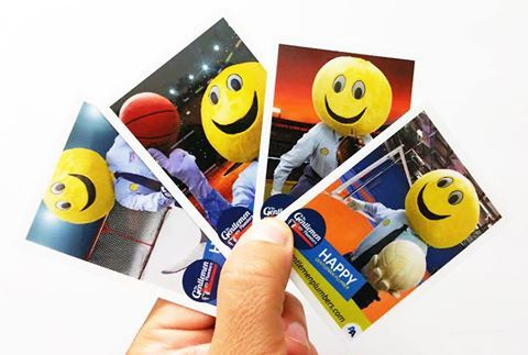 "The Gentlemen Plumbers mascot ""Happy"" is handing out Happy Sports Trading Cards. If you see him in your area, be sure to ask for a card and a photo! He was last seen in the Red Deer area, but can often be found in #Calgary, #Edmonton, #RedDeer, #Lethbridge and #MedicineHat #Alberta!"