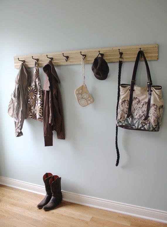school house vintage trim coat rack 5u0027 long by mudroom entrance storage