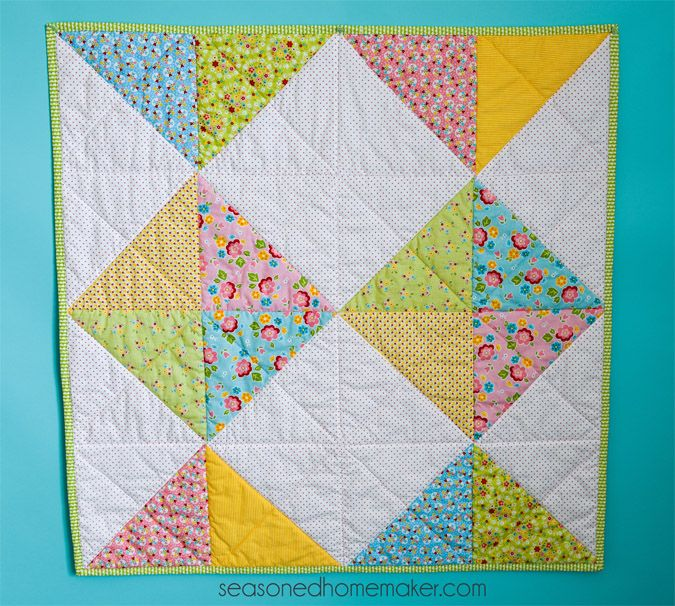 Everyone needs a simple baby blanket or baby quilt pattern in their arsenal. This one will be a huge hit at the next baby shower you attend.
