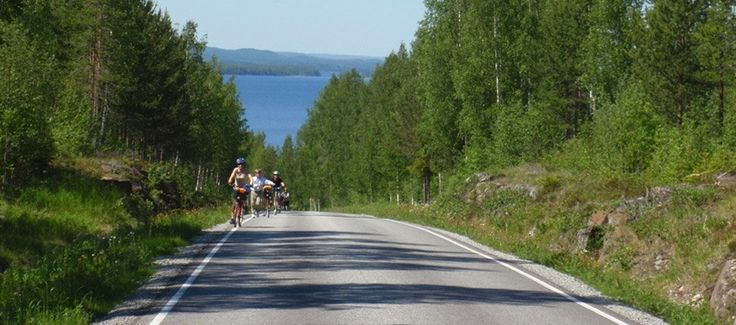 Would you prefer a guided cycle tour in a small group? This tour takes you to the hilly landscape of Northern Karelia. Everything is taken care fore, you can concentrate in cycling, paddling and enjoying the great views and great food. The tour starts from Helsinki or Kuopio airports, minimum group of 6 is required for the guided tour. As a cycling version also available self-guided.