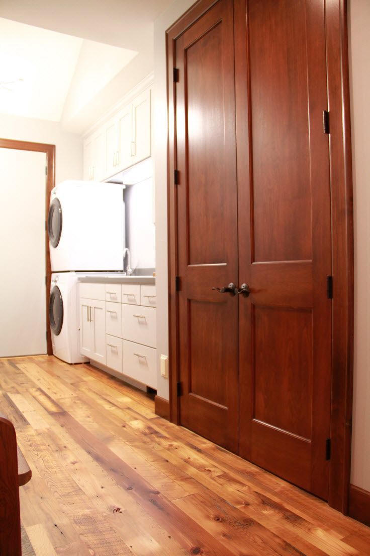 Interior Doors Double Door Closet In The Laundry Room