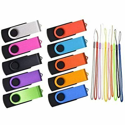 1gb Flash Drive 10 Pack Usb 2 0 Thumb Drives Bulk Multipack Pen Multicolor Stick In 2020 Thumb Drive Zip Drive Memory Stick