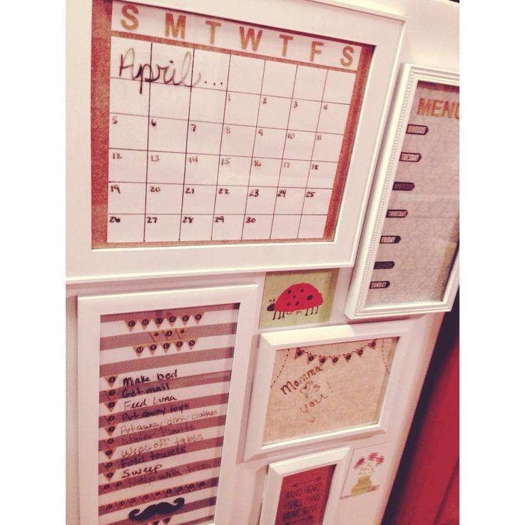 Diy Refrigerator Calendar : Diy side refrigerator decor planners dry erase boards