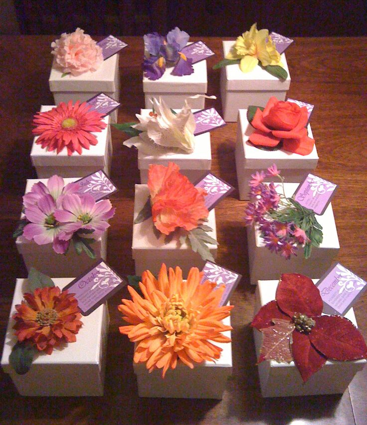 Cute Prayer Box Idea-----Here's the description from the original pinner-------------I made these prayer boxes for the Women's Ministry prayer breakfast at my church. Each box is decorated with the flower that its month represents. The ladies born in the same month sat together, and shared their prayer requests with each other and placed them in the boxes to be prayed over.