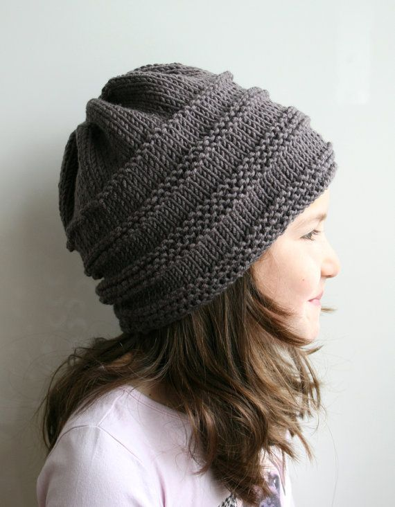 KNITTING PATTERN, Oversized slouchy hat knitting pattern 08, toddler child and adult sizes Instant Download! The oversized slouchy hat is a staple