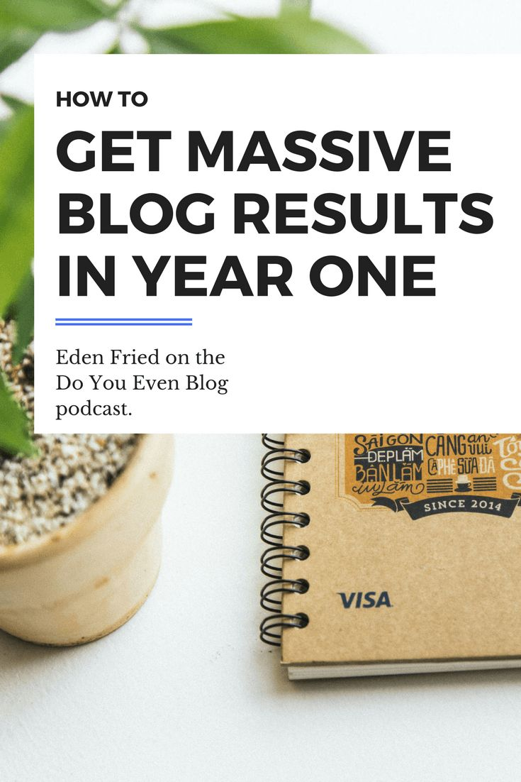 How to get massive blog results in year one Eden Fried | doyouevenblog.com
