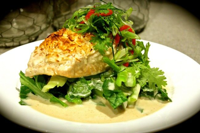 Poached Coconut Salmon