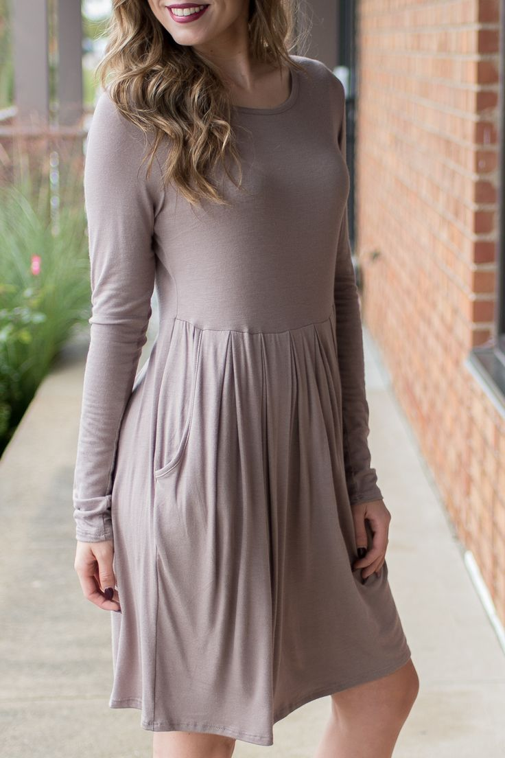 Pink Slate Boutique - Dinner Date Dress (Taupe), $36.00 (http://www.pinkslateboutique.com/dinner-date-dress-taupe/)