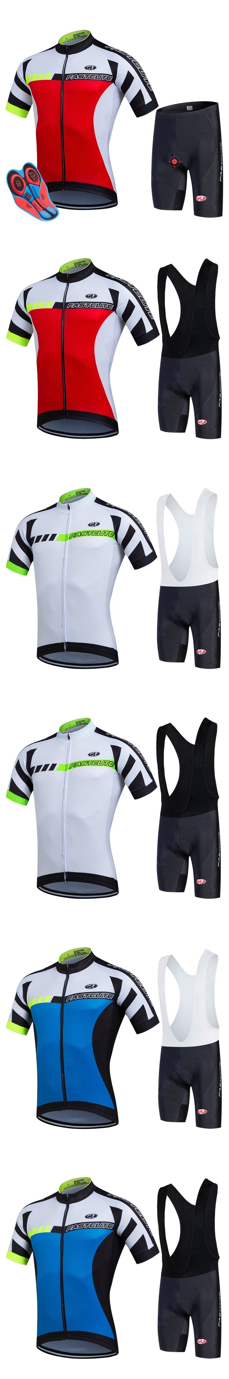 2017 Bicycle Cycling Jersey Set Short Sleeve Jerseys and Cycling bib Shorts Sets Mountain Bike Clothing Maillot Ropa Ciclismo