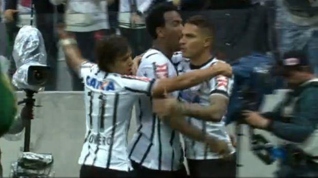 Gol de Paolo Guerrero: Corinthians derrotó 2-0 al Palmeiras. July 27, 2014.