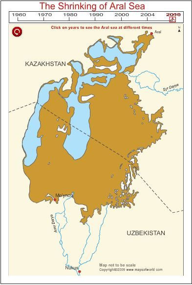 - World Talk -  Central Asia copes with climate change.   The environmental degradation of the Aral Sea is a result of a chronic and intensive pressure on major river basins, which provide fresh water to the Aral Sea, by provoking irreversible damage to the basin.   #Shrinking #AralSea #Tajikistan #News #CentralAsia #Worldtalk