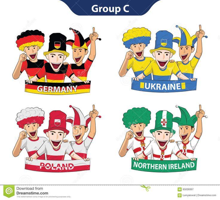 Euro 2016 Der Gruppen-C Vektor Abbildung - Bild: 65636997