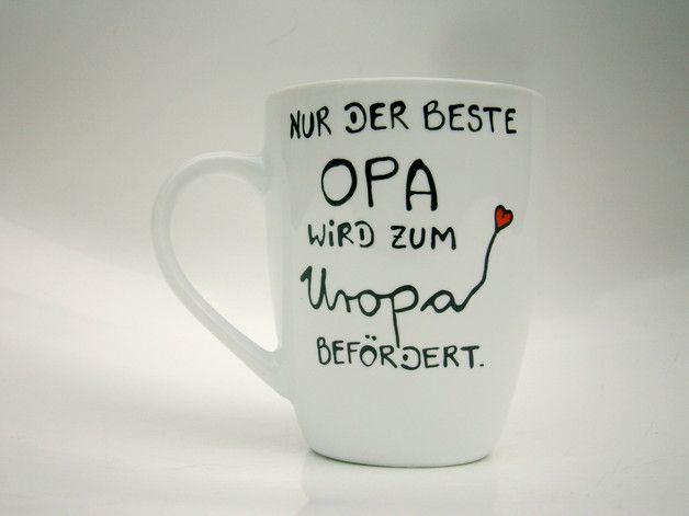 Wunderschöne Tasse :  **Nur der beste OPA wird zum UROPA befördert.**   ♥ ♥ ♥ Die Tasse für die werdende UROMA findet ihr auch in unserem Shop ♥ ♥ ♥   Farbe Tasse : weiss  Aufschrift...