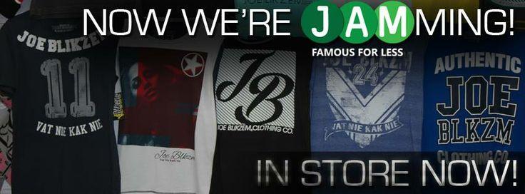 Joe Blikzem clothing available at JAM Clothing www.jamclothing.co.za #joeblikzem #JAMclothingSA