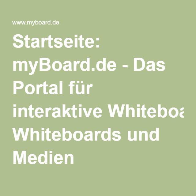 Startseite: myBoard.de - Das Portal für interaktive Whiteboards und Medien