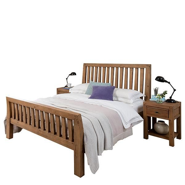 Cotswold Reclaimed Wood Bed Solid Wooden Bed Frame Crafted From Reclaimed Wood For With Wooden Bedroom Furnitu Reclaimed Wood Beds Wood Beds Rustic Wooden Bed
