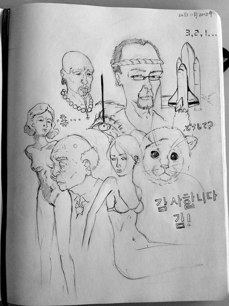 A doodling session inspired by Kim Jung Gi, 감사합니다   thank you! More at >> dancingpixels.co.za