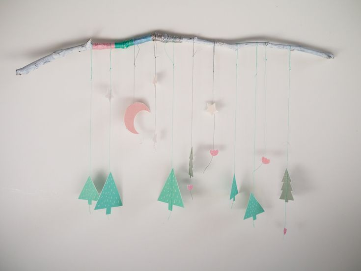 """DIY mobile """"Sweet dream in the forest"""" free download template - La maison de Loulou"""