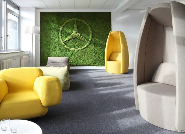 #COCOON provides a private space in a public place. In a busy office environment COCOON offers tranquility and a flexible and modern working place. At Daimlers headquarters in Stuttgart, Germany, COCOON is dressed in carefully chosen colors to match the interior design and creating a working environment suitable for creativity and innovation. COCOON is designed by Danish furniture architect #carstenbuhl. #danishdesign #furniture #carstenbuhl #scandinavianfurniture #office #relax #work #music…