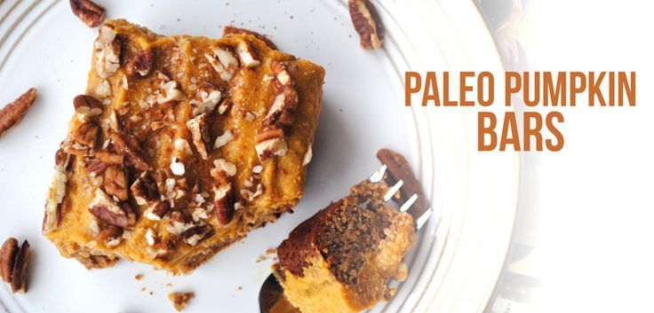 Paleo Pumpkin Bars and more of the best paleo pumpkin recipes on ...