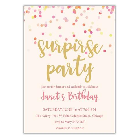Best 25 Surprise birthday invitations ideas – Surprise Birthday Party Invites