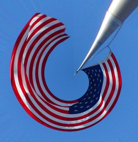 """Broad Stripes and Bright Stars forming a natural letter """"C"""" <3"""