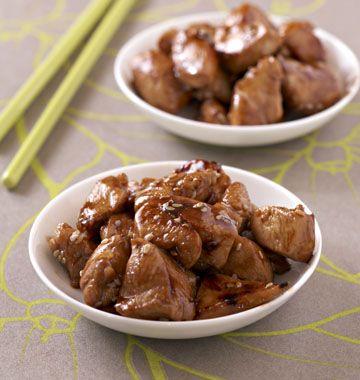 Poulet caramélisé au sésame - les meilleures recettes de cuisine d'Ôdélices