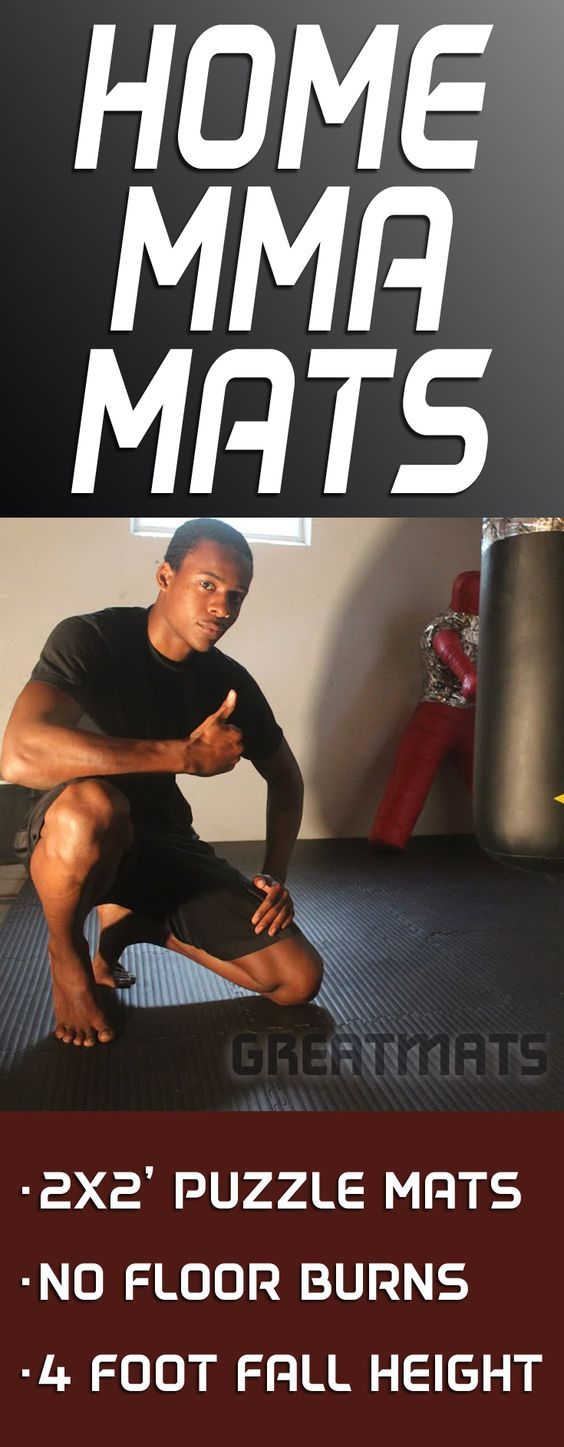 Greatmats Home MMA puzzle mats offer a 4-foot fall height rating and no skin burn surface in a 2x2 foot size. Check them out.