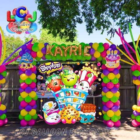 Shopkins Theme: Check out our party directory for party decorating, activities, and entertainment ideas. Party resource for Texas,  Www.TexasPartyPeo….