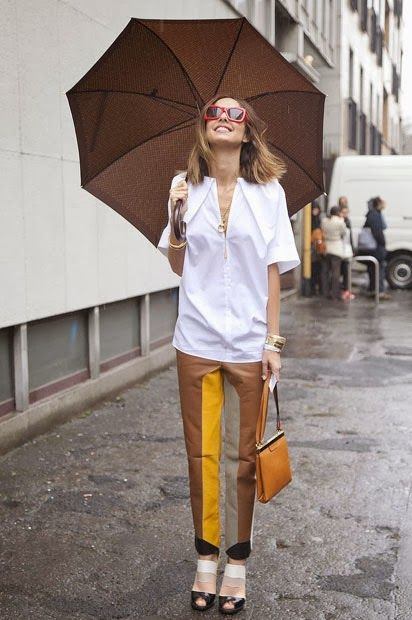 Color blocked pants - love this whole look! If only my legs were this skinny! :-P