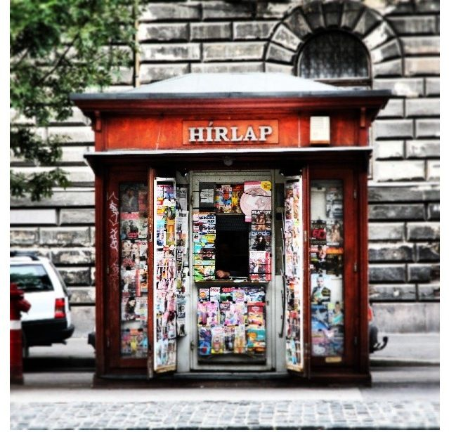 Kiosk at Budapest, Hungary