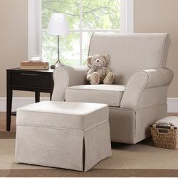 Baby Relax Varna Swivel Glider and Ottoman & Reviews | Wayfair