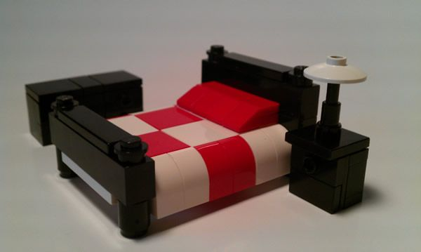 LEGO Furniture Instructions | LEGO Bedroom Set w/ Bed, Nightstand & Dresser