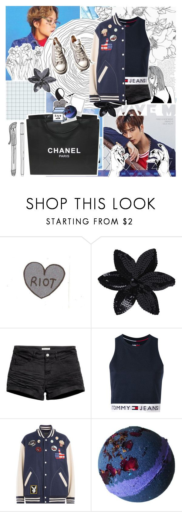 """""""With Amber and Jackson ^^_Crystal"""" by baekyeoltaekook on Polyvore featuring GET LOST, Ray-Ban, Chanel, ASOS, H&M, Tommy Hilfiger, Marc Jacobs and Converse"""