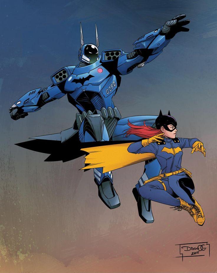 Batman and Batgirl by Diego Olortegui