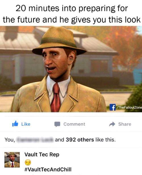 Vault-Tec and Chill fallout fallout 4 vault-tec vault tec