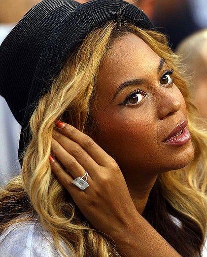 He liked it so he put a ring on it - Jay-Z gave Beyoncé this 18-carat diamond when he proposed, worth an estimated five million dollars.