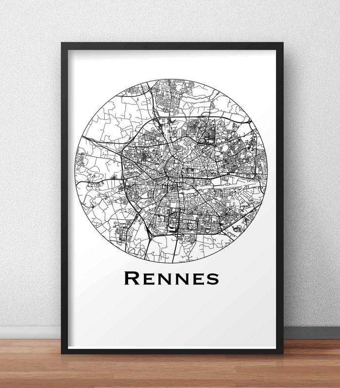 L'affiche City Map Rennes Minimalist est une création originale de Artmap Design©. ✓ Impression sur papier 200g/m2 blanc. ✓ Livraison gratuite sous enveloppe ou tube cartonné avec numéro de suivi ✓ Satisfait ou remboursé DIMENSIONS POSSIBLES: A4, A3, B2 #deco #poster #citymap