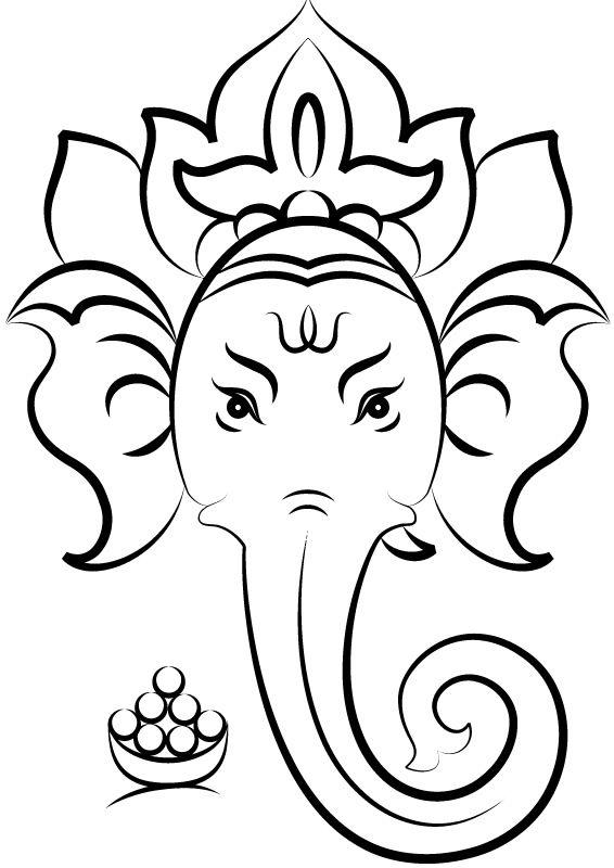 Close up view of ganesh face hindu god vinyl stickers sticker