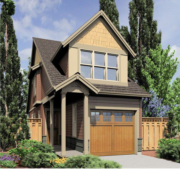 29 best images about narrow lot beauties on pinterest for Cottage style garage plans