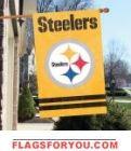"""Steelers Golden Applique Banner 44"""" x 28"""""""