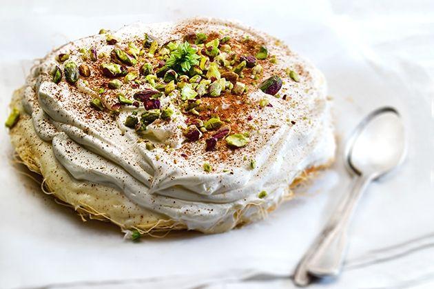 Εκμέκ καταΐφι από την Αργυρώ Μπαρμπαρίγου   Υπέροχο γλυκό με μοναδική μαστιχάτη κρέμα