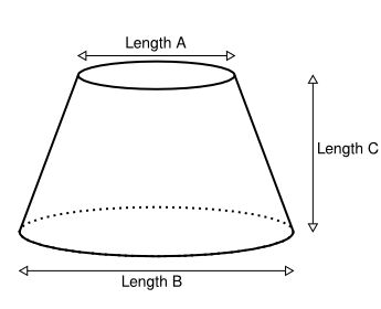 Online calculator for making a flat cone. For instance cutting a guard from thin sheet metal to make a cone that prevents squirrels from reaching your bird feeder.