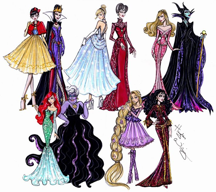 Hayden Williams Fashion Illustrations: Princess vs Villainess collection by Hayden Williams