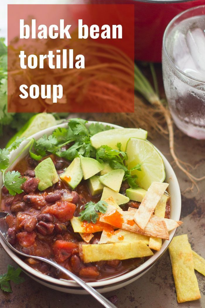 This Hearty Vegan Tortilla Soup Is Made With Spicy Simmered