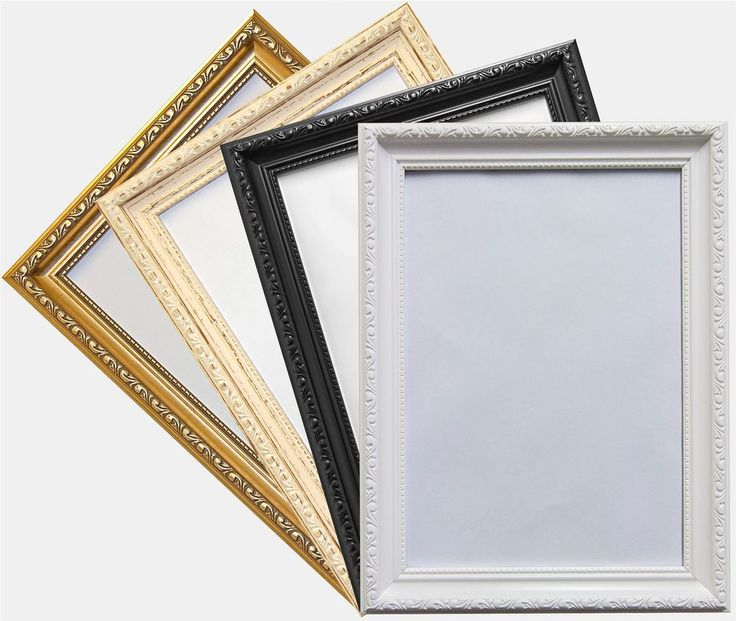 Shabby chic Ornate French style Picture Photo frame Cream White Gold Black