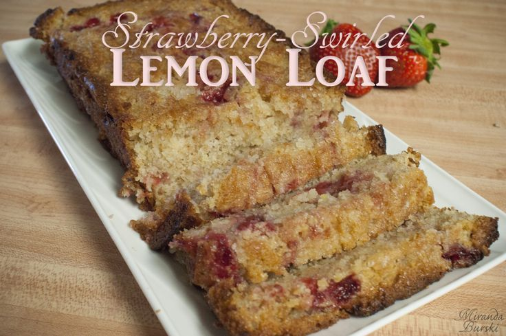 This Strawberry-Swirled Lemon Loaf combines the classic lemon loaf flavour with a burst of strawberry sweetness.