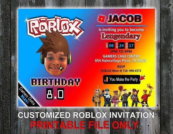 Roblox Birthday Invitation  Printable DIY